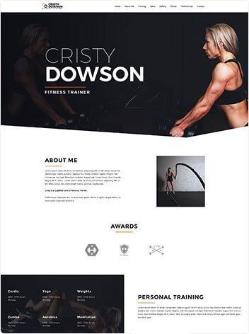 fitness trainer web