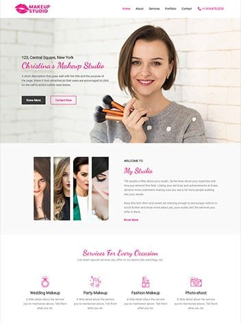 Make-up artist website